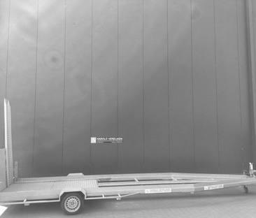 Aanhanger bouwlift transporter