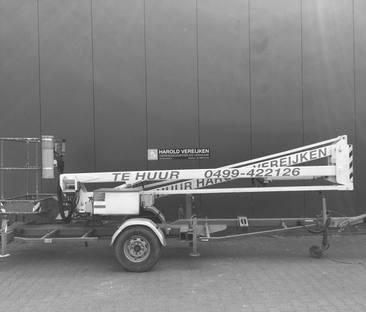 Hoogwerker aanhanger knikarm 12 m werkhoogte 230v