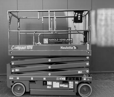 Hoogwerker schaar 10m werkhoogte 0.80m breed
