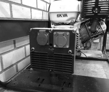 Stroomaggregaat Benzine 6 kVA