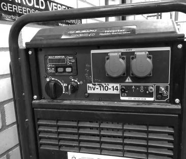 Stroomaggregaat benzine 4 kVA geluidgedempt