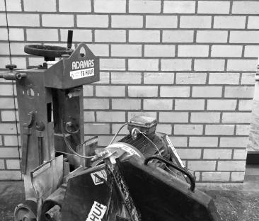 voegenzaagmachine 400 v max 240 mm zaagdiepte