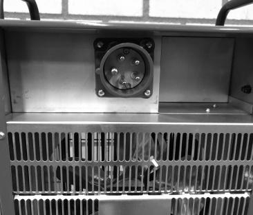 Heteluchtkanon 09 kw. 400 V.