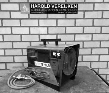 Heteluchtkanon 35 kW. gas