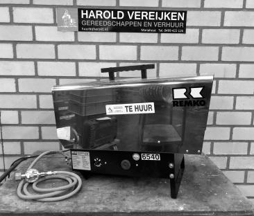 Heteluchtkanon 55 kW. gas