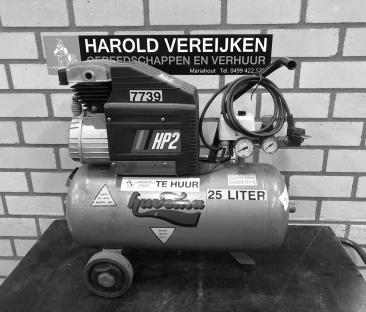 Compressor 8 bar t/m 25 liter 230 v