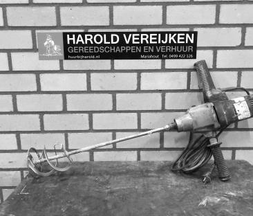 Mixer met garde t.b.v. stucadoor